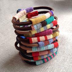 3x Leather friendship bracelets with a discount от kjoo на Etsy