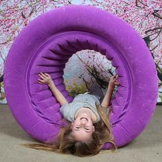 Fun and Function Air-Lite Barrel Roll Inflatable & Lightweight Perfect for Kids with Sensory Processing Disorder, Autism and ADHD - Encourages Balance, Motor Planning & Sensory Integration Sensory Rooms, Sensory Activities, Sensory Play, Proprioceptive Activities, Sensory Motor, Autism Sensory, Autism Activities, Autism Resources, Sensory Bins