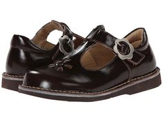 Kid Express Molly (Toddler/Little Kid/Big Kid) Dark Brown Burnished Leather - Zappos.com Free Shipping BOTH Ways