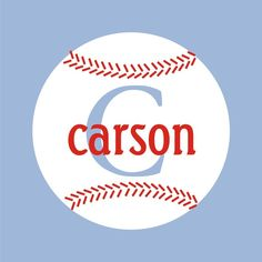 Two Color Baseball with Monogram and Name Vinyl Wall Decal-baseball monogram with name two-color, one piece vinyl wall decal - your wall color will show through the initial to provide the third color measures approximately 23 wide x 23 tall Baby Boy Rooms, Baby Room, Baby Boy First Birthday, Name Wall Decals, Vinyl Projects, Decoration, Kids Room, Baseball Wall, Baseball Quilt