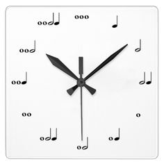 This clock tells time in rhythm. Each number is represented by notes that make up the appropriate number of beats.