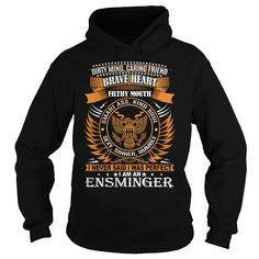 [Love Tshirt name font] ENSMINGER Last Name Surname TShirt Discount Best Hoodies, Funny Tee Shirts