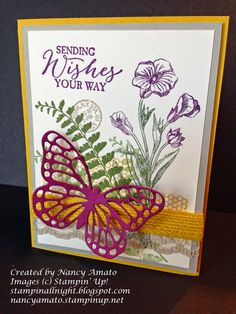 One stamp set, one die, just use one ribbon to make cost effective, easy beginners card