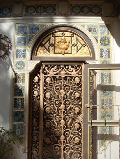 One of the gorgeous doors to the Hearst Castle.