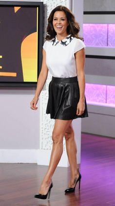 Brooke Burke, Leather Skirt, Short Dresses, Ballet Skirt, Skirts, Women, Fashion, Short Gowns, Moda