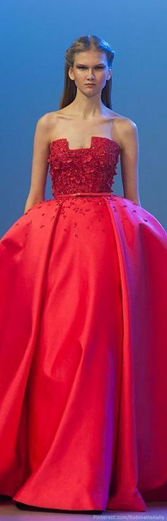 haute couture dress couture couture dresses couture kleider couture rose couture rules best ideas for wedding colors spring red haute couture Red Fashion, Runway Fashion, Costura Fashion, Elie Saab Dresses, Haute Couture Fashion, Couture Dresses, Beautiful Gowns, Dream Dress, Nice Dresses