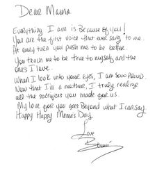 mothers day letter by beyonce to her