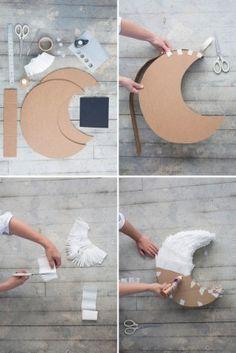 Луна из бумаги и картона