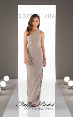 Sorella Vita With A Flirty One Strap Neckline And Side Ruching Detail This Bridesmaid Dress Is Perfect For The Mix And Match Bridal Party Or On Its Own