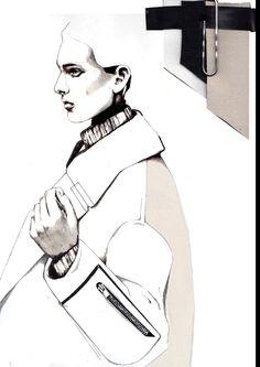 Fashion Sketchbook - fashion design illustration & fabrics; fashion student work; fashion portfolio // Andrew Voss