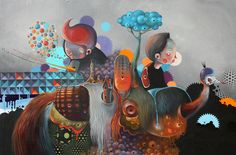 Philip Bosmans unusual style works well in illustration, fine art and graffiti. See morepaintings by Philip Bosmans.