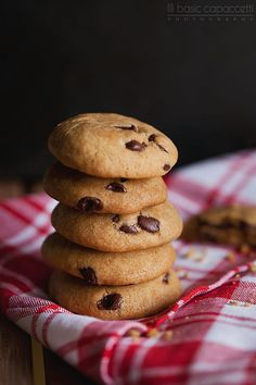 Chocolate chip cookies, With coconut oil, used recipe from gimmesomeoven blog