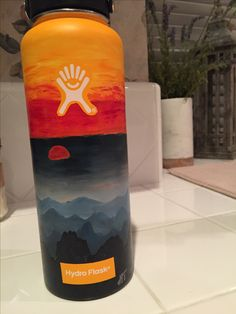 sunsets! painted by me! #hydroflask
