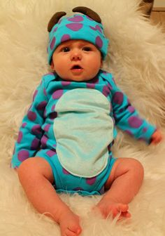 disney monsters inc sally outfit andrews first halloween - Monsters Inc Baby Halloween Costumes