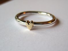 simple heart silver rings for women - Google Search