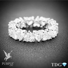 Be the center of attraction take a look at this eternity band from one of my favorite south Florida jewelers by via Diamond Girl, Diamond Bands, Dubai Fashion, Eternity Bands, Wedding Styles, Heart Ring, Fine Jewelry, Jewellery, Sapphire