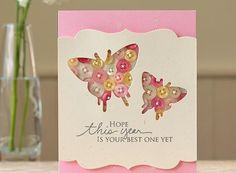 This card is too adorable to pass up. The Button Butterfly Birthday Card is a lovely homemade birthday card that uses a unique technique. Create a window in your card and let your prettiest buttons shine through.