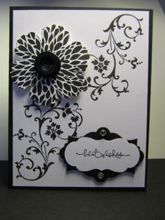 Wow...some of the new products from the new Stampin' Up! catalog...available to the public on June 1st. This card was made by Dawn Sonju