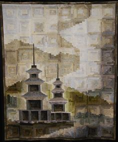 """""""The Scenery of GamEunSaJi"""" by Kim Hye Sook. Special Exhibit - Korea Quilters Association, at the Minnesota Quilters Annual Show 2011."""