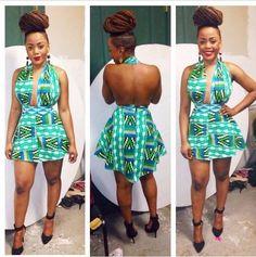 African mini dress