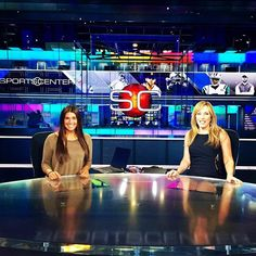 Terriers take over Sportscenter! Terrier hockey forward Rebecca Russo visited the set with Linda Cohn