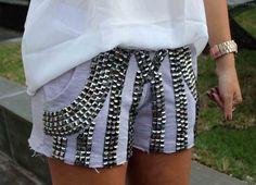 shorts de moletom feminino bordado - Pesquisa Google