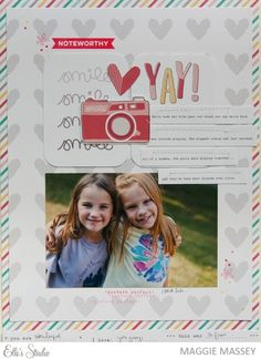 noteworthy scrapbook layout by Maggie Massey for Elle's Studio