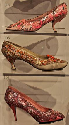 Vintage Fashion: Shoes by Roger Vivier for Christian Dior, 1950s.