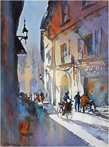Cycling in Pisa, Thomas Schaller