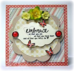 inspired by ang collection from unity stamp company - card created by unity design team member karen maldonado. so pretty!