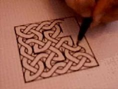 Celtic Drawing. This is really cool how the artist can just SEE this.  I actually used to draw thing like this when i was younger.. i never knew how cool it was till now and i realized it just came naturally to me!