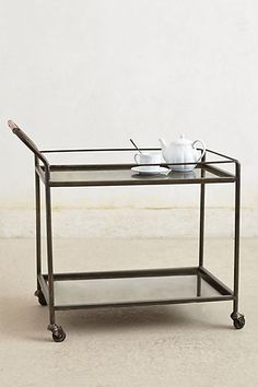 Mercury Bar Cart #anthropologie $498  Yes please- this would be very handy to have in my home. Hint, hint!