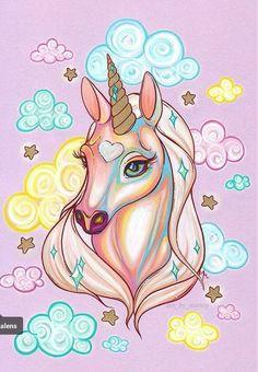Unicorn Painting, Unicorn Drawing, Pony Drawing, Unicorn Art, Unicorn And Fairies, Unicorns And Mermaids, Unicornios Wallpaper, Animal Wallpaper, Colorful Drawings