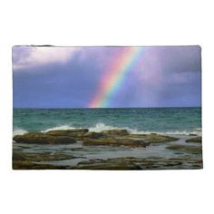 Rainbow Travel Accessory Bag - stones diy cyo gift idea special