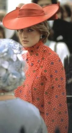 Lady Diana at the wedding of an equerry and friend of Prince Charles, Nicholas Soames and Catherine Weatherall on June 4, 1981.