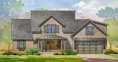 Shingle Style House Plan with Game Room and Bunk Room - 970056VC thumb - 01