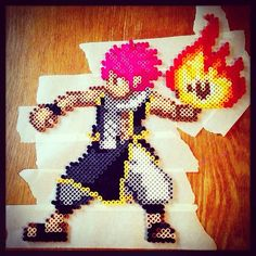 Natsu Fairy Tail perler beads by  realrecognizeleal