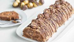 Bûche Ferrero Rocher au thermomix. Voici une recette de Bûche Ferrero Rocher, facile et simple a réaliser pour les fêtes de Noël avec le thermomix.
