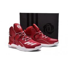 4f9668b24f86 authentic adidas d rose 7 basketball shoes red white for mens