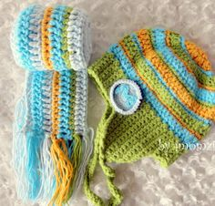 Toddler Boy Scarf Crochet Scarves for Kids in Blue by mybabyhats