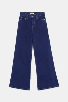 Image 8 of HI-RISE PALAZZO JEANS from Zara Girls Fashion Clothes, Girl Fashion, Fashion Outfits, Wide Jeans, Fashion Bible, Zara, Short Jumpsuit, School Outfits, Bell Bottom Jeans