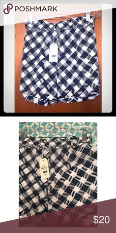 Mudpie checked shorts Brand new with tags, super cute Mudpie shorts. Navy and white checks. Mud Pie Shorts