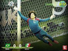 #VivaBrasil Termina el partido en el Estadio Castelão, marcador: Brasil 0-0 México #Mundial2014