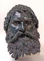 The bronze portrait head of Seuthes III in the Bronze Exhibition at the Royal Academy of Arts in London - National Archaeological Institute with Museum