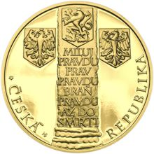 Jan Hus II. - sada nevydaných návrhů mincí 10000 Kč 1 Oz zlato