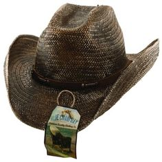 16415a253f1 Kenny Chesney Blue Chair Bay 2012 Brown Cattleman Straw Hat. Cowboy Hat  Country