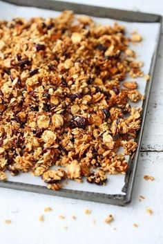 Homemade Granola  •  Free tutorial with pictures on how to bake granola in under 45 minutes
