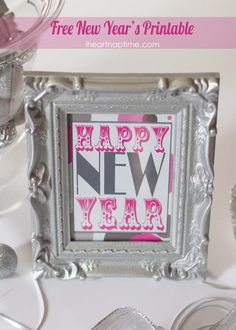 Happy New Year free printable on iheartnaptime.com