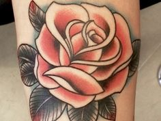 Old-School-Rose-Tattoo-Ideas.jpg (600×450)