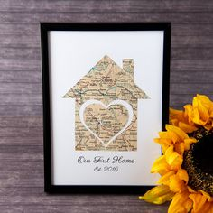 Our First Home Map Realtor Gifts Home Gift Ideas Wife Map